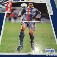 Coleccionismo deportivo: POSTER STEVE MARLET OLYMPIQUE LYONNAIS ONZE. Lote 109052263