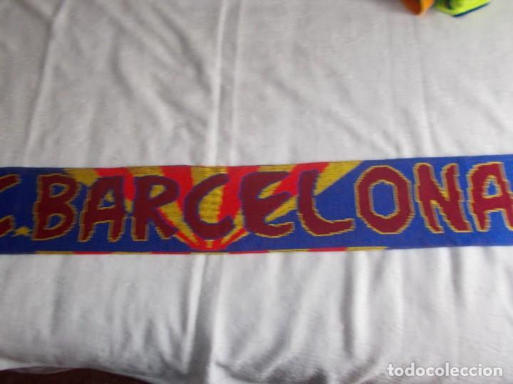 BUFANDA DE F.B. BARCELONA AÑOS '90 (Coleccionismo Deportivo - Merchandising y Mascotas - Futbol)