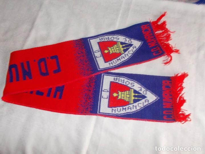 Coleccionismo deportivo: BUFANDA C.D. NUMANCIA - Foto 2 - 109255327