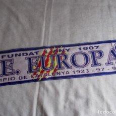 Coleccionismo deportivo: BUFANDA C.E.EUROPA CAMPIO DE CATALUNYA 1923-97-98. Lote 109262727