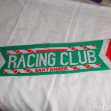 Coleccionismo deportivo: BUFANDA RACING CLUB SANTANDER AÑOS '90. Lote 109263223