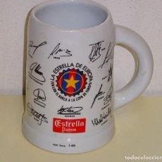 Coleccionismo deportivo: JARRA DE CERÁMICA NUMERADA. ESTRELLA DAMM. COPA EUROPA 1992 FÚTBOL CLUB BARCELONA. 13 CM. 620 GR. Lote 109313295