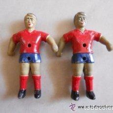 Coleccionismo deportivo: LOTE 2 JUGADORES FUTBOLIN SELECCION ESPAÑOLA FUTBOL. Lote 109555151