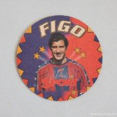 Coleccionismo deportivo: POSAVASOS FIGO FUTBOL CLUB BARCELONA FCB (BARÇA) SPORT. Lote 110218031