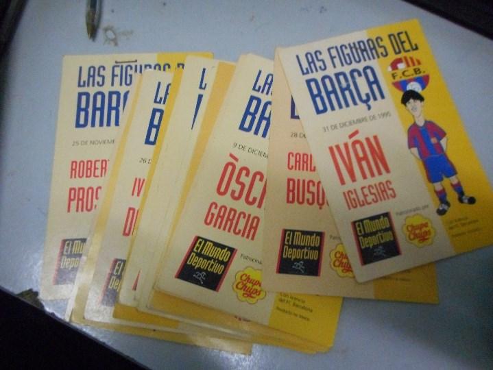 Coleccionismo deportivo: lote 15 figuras antiguas jugadores barça - Foto 2 - 110615051