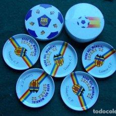 Collezionismo sportivo: CAJA Y POSAVASOS DE NARANJITO MUNDIAL 82. Lote 110876399