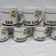 Coleccionismo deportivo: LOTE DE 7 TAZAS REAL MADRID . Lote 112080443