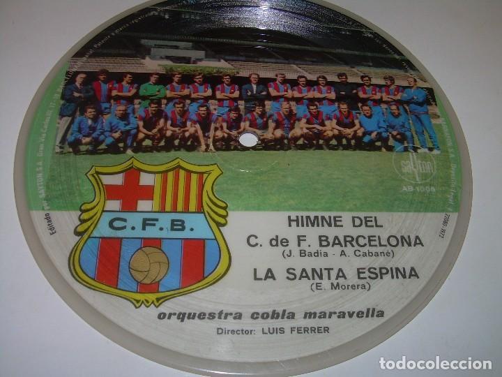 DISCO CANTADO POR LOS JUGADORES ...IMNE DEL C.F. BARCELONA. (Coleccionismo Deportivo - Merchandising y Mascotas - Futbol)