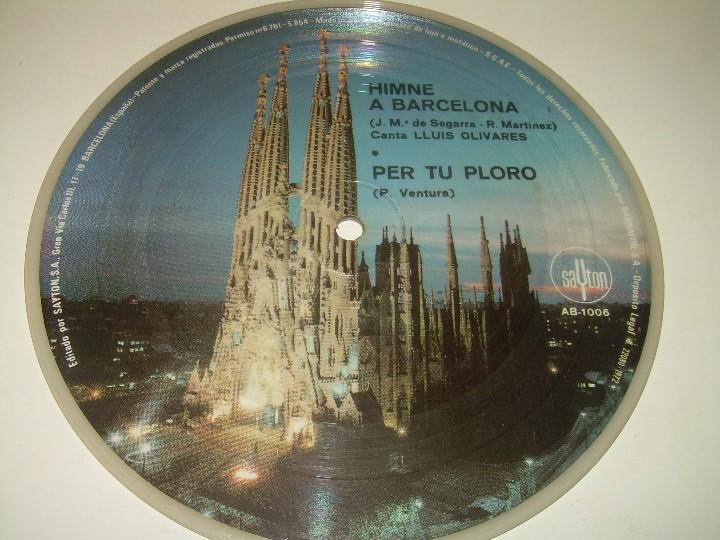 Coleccionismo deportivo: DISCO CANTADO POR LOS JUGADORES ...IMNE DEL C.F. BARCELONA. - Foto 3 - 112368747