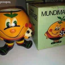 Coleccionismo deportivo: LAPICERO NARANJITO MUNDIAL 82 ESPAÑA CON CAJA NUEVO. Lote 112690535