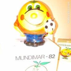 Coleccionismo deportivo: HUCHA NARANJITO MUNDIAL 82 ESPAÑA CON CAJA NUEVO. Lote 112690599