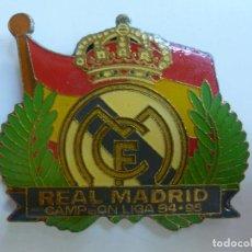 Coleccionismo deportivo: IMÁN DEL REAL MADRID CAMPEÓN DE LIGA 94.95. Lote 113067535