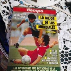 Coleccionismo deportivo: VHS DE LO MEJOR DE LOS MUNDIALES 1970 - 1986. TIEMPO 1990. Lote 113353039