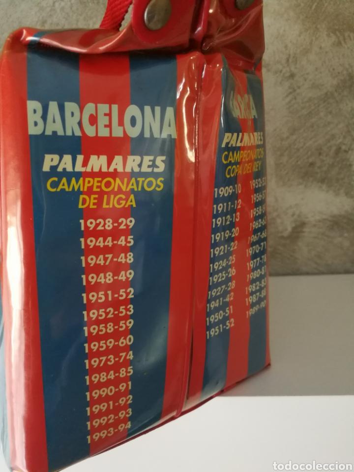 Coleccionismo deportivo: BOLSA NEVERA FC BARCELONA AÑOS 90 PROMOCIONAL - Foto 4 - 114746688