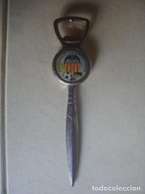 MUY RARO ABRIDOR/ ABREBOTELLAS / ABRECARTAS DEL VALENCIA C. F. LIMEVA. AÑOS 80 (Coleccionismo Deportivo - Merchandising y Mascotas - Futbol)