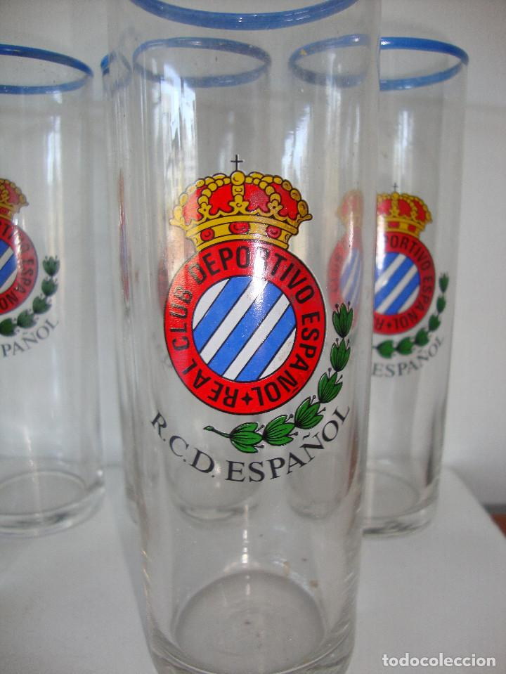 Coleccionismo deportivo: MUY DIFICIL LOTE DE 6 VASOS DE TUBO REAL CLUB DEPORTIVO ESPAÑOL AÑOS 70 - 80 - Foto 2 - 116522211