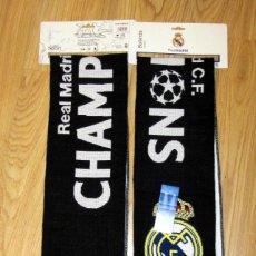 Coleccionismo deportivo: BUFANDA FUTBOL SCARF FOOTBALL UEFA CHAMPIONS LEAGUE REAL MADRID MILANO 2016. Lote 152382377