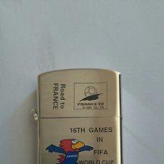 Coleccionismo deportivo: MECHERO MUNDIAL DE FRANCIA 1998 TIPO ZIPPO. Lote 117126664