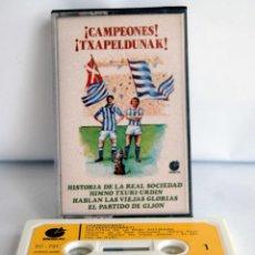 Coleccionismo deportivo: CAMPEONES TXAPELDUNAK HISTORIA DE LA REAL SOCIEDAD HIMNO TXURI URDIN HABLAN LAS VIEJAS GLORIAS GIJON. Lote 117305571