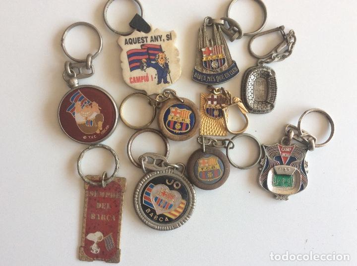 LOTE LLAVEROS DEL BARÇA (Coleccionismo Deportivo - Merchandising y Mascotas - Futbol)