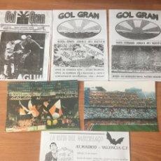 Coleccionismo deportivo: LOTE GOL GRAN FANZINES BOLETINES HINCHAS ULTRAS VALENCIA CF. Lote 118616458