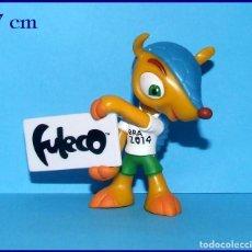 Coleccionismo deportivo: FULECO MASCOTA DEL MUNDIAL DE FUTBOL BRASIL FIFA 2014 FIGURA EN PVC # 1. Lote 118774711