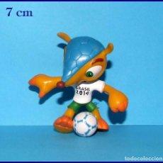 Coleccionismo deportivo: FULECO MASCOTA DEL MUNDIAL DE FUTBOL BRASIL FIFA 2014 FIGURA EN PVC # 4. Lote 118774983