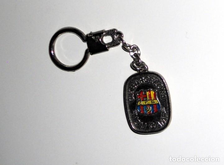 LLAVERO ANTIGUO FÚTBOL VINTAGE . FC BARCELONA - ANTIGUO ESCUDO CFB BARCELONA - NOU CAMP (Coleccionismo Deportivo - Merchandising y Mascotas - Futbol)