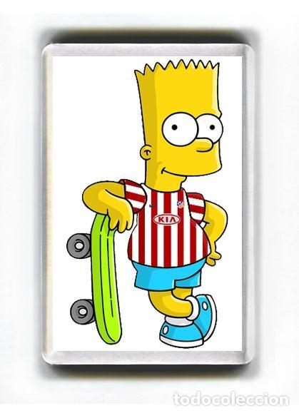 Iman Acrilico Nevera Dibujos Bart Simpson Mon Buy Football