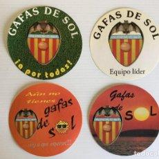 Coleccionismo deportivo: LOTE 4 ADHESIVOS VALENCIA CF – PUBLICIDAD GAFAS DE SOL. Lote 122698987