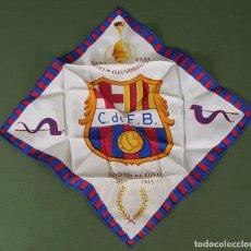 Coleccionismo deportivo: PAÑUELO DE SEDA. F.C BARCELONA. CAMPEONES DE LIGA 1948-1949. BODAS DE ORO. 1899-1949. . Lote 122845235