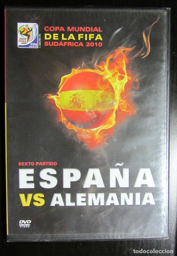 DVD SEMIFINAL MUNDIAL SUDAFRICA 2010 PARTIDO SELECCION ESPAÑOLA ALEMANIA FIFA WORD CUP FOOTBALL (Coleccionismo Deportivo - Merchandising y Mascotas - Futbol)