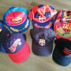 Coleccionismo deportivo: GORRAS DE FUTBOL CLUB BARCELONA LOTE DE 8. Lote 124860970