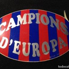 Coleccionismo deportivo: CAJA 2 ANTIGUA PEGATINA CAMPIONS D'EUROPA 1992 FUTBOL CLUB FC BARCELONA F.C BARÇA CF. Lote 126775687
