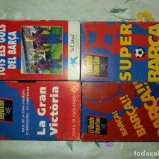 Coleccionismo deportivo: LOTE BARÇA FCB DREAM TEAM Y COPA DE EUROPA VHS. Lote 127809187