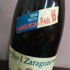 Coleccionismo deportivo: REAL ZARAGOZA BOTELLA DE CAVA CAMPEÓN EUROCOPA PARIS 1995 SIN ABRIR. Lote 127851435