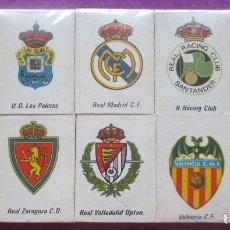 Coleccionismo deportivo: LOTE 10 CAJAS DE CERILLAS, ESCUDOS FUTBOL, REAL MADRID, VALENCIA, MUNDIAL ESPAÑA 1982 CALENDARIO. Lote 128265819