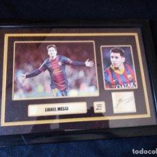 Coleccionismo deportivo: CUADRO LIONEL MESSI LIMITED EDITION 48 OF 50.. Lote 128775371