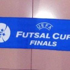 Coleccionismo deportivo: BUFANDA SCARF FÚTBOL SALA FINAL CHAMPIONS FUTSAL UEFA CUP - ZARAGOZA - ADIDAS - RICARDINHO - NUEVA!!. Lote 129662439