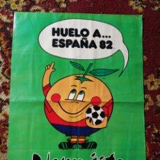 Coleccionismo deportivo: POSTER NARANJITO- MUNDIAL FUTBOL ESPAÑA 82, FIGURAS OLOROSAS MULTIUSO MAGO. 43'5X 31CM.. Lote 130265420