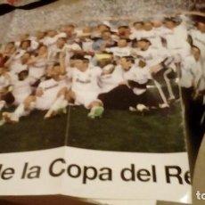 Coleccionismo deportivo: CAJ-98TG43 POSTER REAL MADRID CAMPEON COPA DEL REY 2010. Lote 130735684