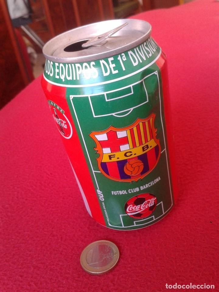 ANTIGUA LATA DE COCACOLA COCA COLA FÚTBOL FOOTBALL CLUB BARCELONA 1996 97 SOCCER LA LIGA SPAIN BARÇA (Coleccionismo Deportivo - Merchandising y Mascotas - Futbol)