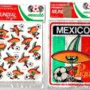 Coleccionismo deportivo: LOTE DE 2 SOBRES DE CALCOMANIAS MUNDIAL MEXICO 86. EN VINILO. Lote 131337113
