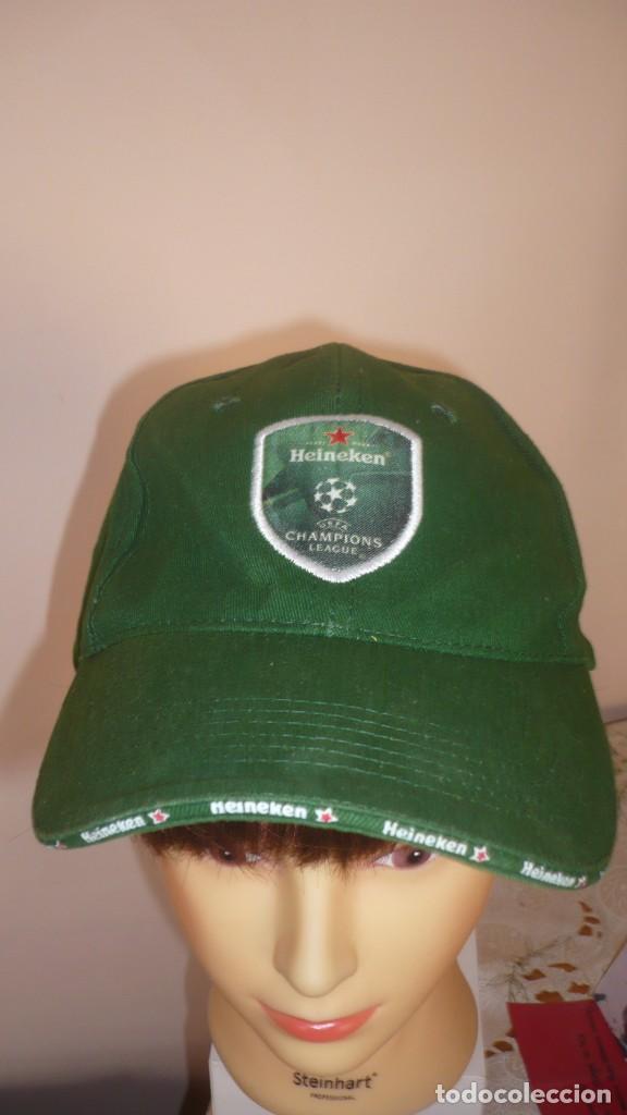 GORRA HEINEKEN - CHAMPIONS LEAGUE (A ESTRENAR) (Coleccionismo Deportivo - Merchandising y Mascotas - Futbol)