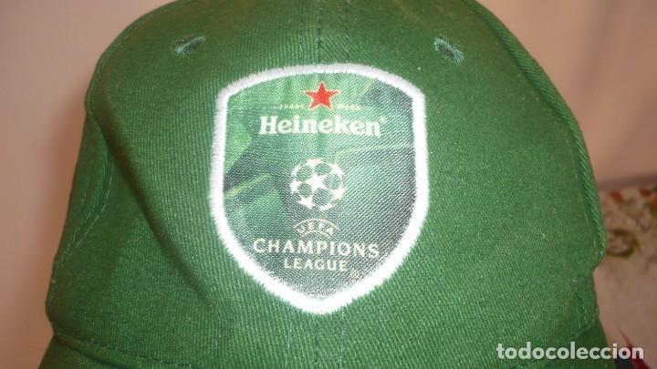 Coleccionismo deportivo: Gorra Heineken - Champions League (a estrenar) - Foto 2 - 132022718