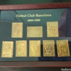 Coleccionismo deportivo: SELLOS CENTENARIO F.C.BARCELONA ENMARCADOS. Lote 132485975