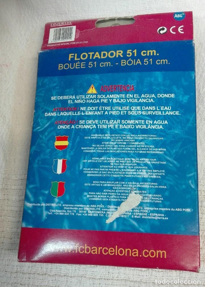 Coleccionismo deportivo: Flotador del Fc. Barcelona - Foto 2 - 132912470
