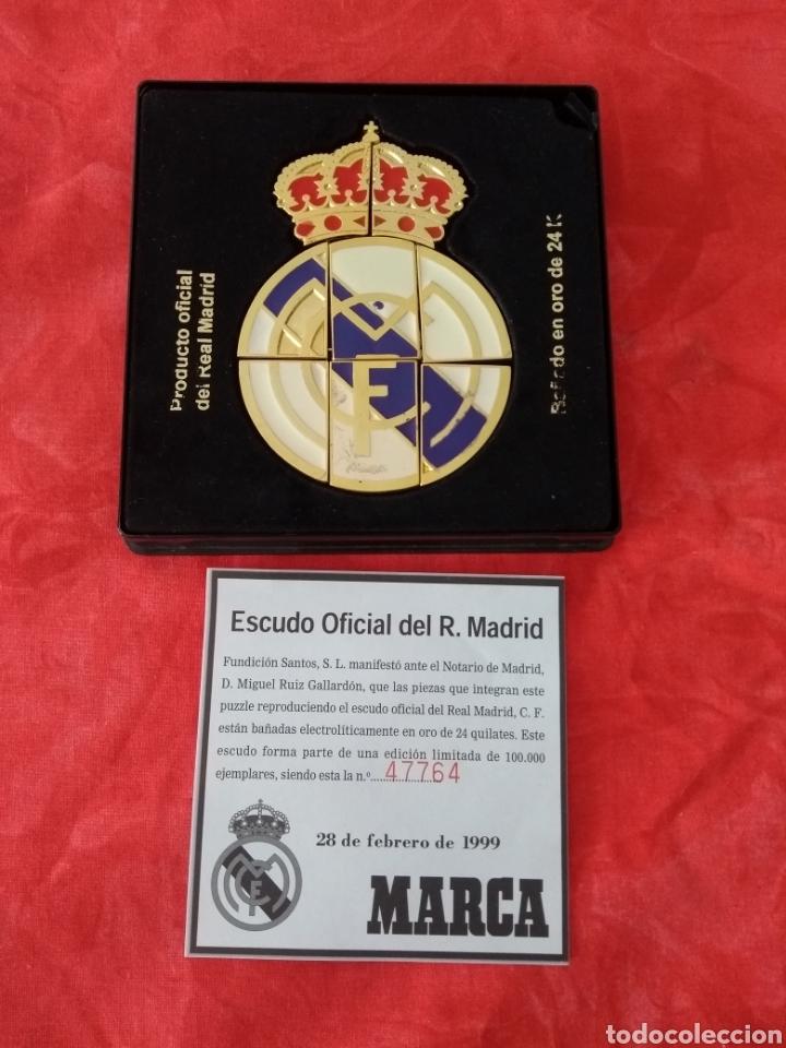 Coleccionismo deportivo: Escudo oficial del real Madrid - Foto 6 - 133370362