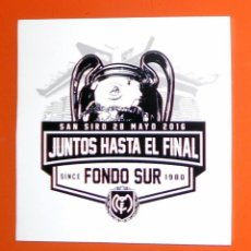Coleccionismo deportivo: PEGATINA STICKER FÚTBOL FINAL CHAMPIONS LEAGUE 2016 - REAL MADRID ULTRAS SUR - ULTRAS SUPPORTERS. Lote 133584486