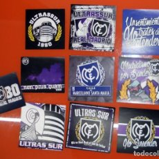 Coleccionismo deportivo: SUPER LOTE 10 PEGATINAS STICKERS ULTRAS SUR REAL MADRID - FÚTBOL ULTRAS SUPPORTERS - DIFERENTES. Lote 133584654